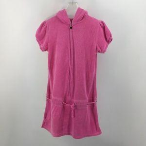 Elan Women's Pink Terrycloth Cover-Up Hoodie